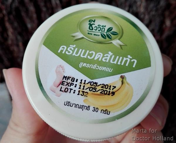 Банановый крем для ног из Таиланда: фруктовый пир для стоп